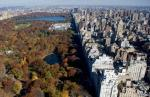 New York City's Central Park along Fifth Avenue is viewed in this aerial photograph from a helicopter over New York on November 11, 2008. (SAUL LOEB/AFP/Getty Images)